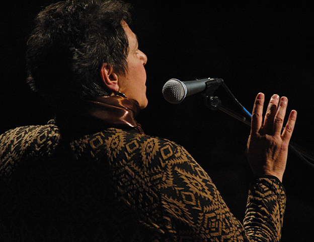 Deena Frankel at microphone