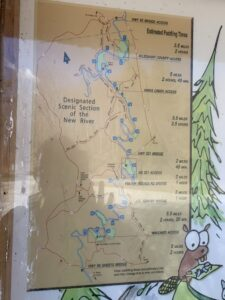 New River, NC, canoe trail map